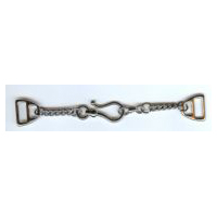 Shiny Nickel Finish Chain & Hook Cloak Clasp