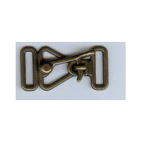 Antique Brass Finish Over Latch Cloak or Coat Clasp.