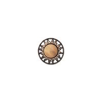 "Equator - 3/4"" Copper/Caramel Metalized Button"