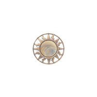 "Equator - 7/8"" Copper/Multicolored Metalized Button"