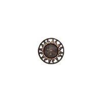 "Equator - 3/4"" Copper/Brown Metalized Button"