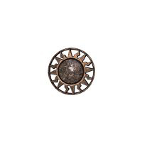 "Equator - 7/8"" Copper/Brown Metalized Button"