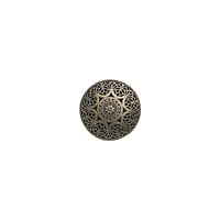 "Safi - 3/4"" Antique Brass Finish Metal Button."