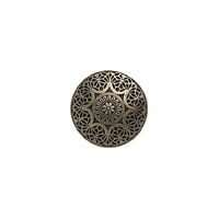 "Safi - 1"" Antique Brass Finish Metal Button"