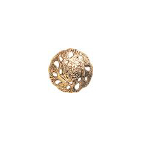 Evensong button, Antique Gold, 7/8""