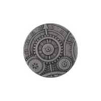 Steampunk Mechanism Button -Antique Nickel Finish - 1 5/8""