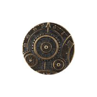 Steampunk Mechanism  Button -Antique Brass Finish - 1 5/8""