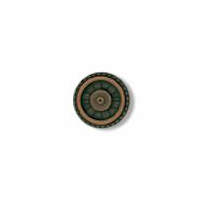 Steampunk Button - Closed Wheel Button - Antique Copper Finish 5/8""