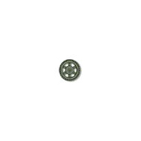 Steampunk Button - Open Wheel Button - Antique Nickel Finish 7/8""