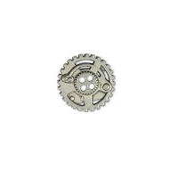 Steampunk Gears Button - Nickel finish - 7/8""