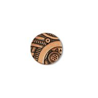 Steampunk Gadget  Button - Copper finish - 5/8""