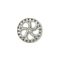 Steampunk Flywheel Button - Nickel finish - 5/8""