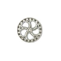 Steampunk Flywheel Button - Nickel finish - 7/8""