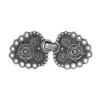 Antique Silver Flower Clasp