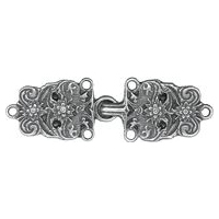 Antique Silver Finish Bavarian Cape Clasp