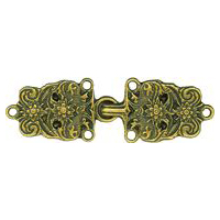 Antique Gold Finish Bavarian Clasp