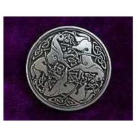 Giant Celtic Horse Buttons (Card of 4) 1 1/4""