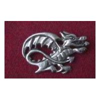 Medieval or Welsh Dragon Brooch