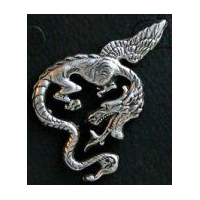 Flying Dragon Pin - Pewter