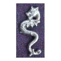 Sea Serpent Dragon Pin - Pewter