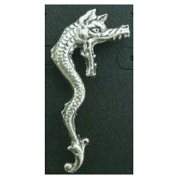 Pewter Opened Mouth Dragon Pin