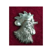 Rooster Head Brooch