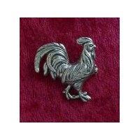 Strutting Rooster Pewter Pin or Brooch