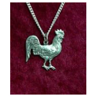 Rooster Necklace - Solid Pewter