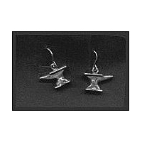 Anvil Earrings - Solid Pewter