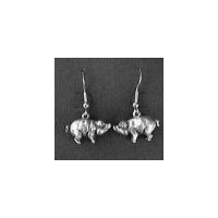 Pig Earrings - Solid Pewter
