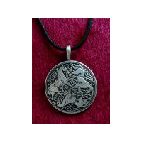Celtic Horse Epona Pendant -  Solid Pewter