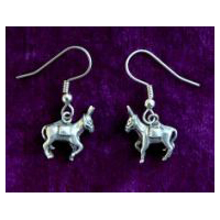 Pack Donkey or Mule Earrings -  Solid Pewter