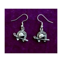 Racing Earrings -  Solid Pewter
