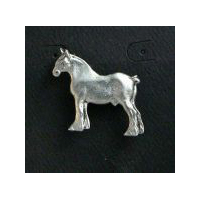 Draft Horse Clutch Pin - Solid Pewter
