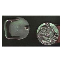 Round Drafthorse Head Buckle - Solid Pewter