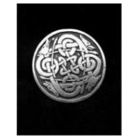 Celtic Canines Pin/Pendant - Solid Pewter