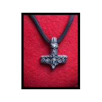 Thor's Hammer or Mjolnir - Norse Amulet - Solid Pewter