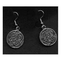 Celtic Canine or Dog Knot Earrings - Solid Pewter
