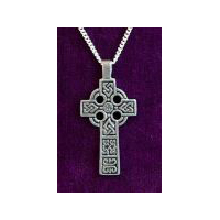 Handsome Celtic Cross - Solid Pewter