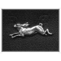 Rabbit or Hare Pin -  Solid Pewter