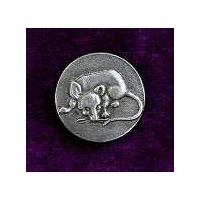 Rat or Mouse Buttons (Card of 4) 7/8""