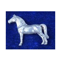 Morgan Horse Pin - Solid Pewter