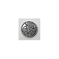 "Bold Celtic Spirals Button 3/4"" (Card of 4)"