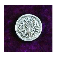 Traditional Thistle Button in Pewter