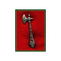Highlander's Battle Ax Pin