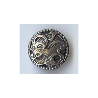 "Viking Drage Entwined Dragon Button - Solid Pewter 11/16"" - 17MM"