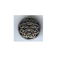 Saga Middels Button - Solid Pewter