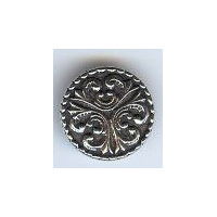 Large Tele Button - Solid Pewter