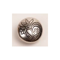 H�ndst�pte Knapper Ornate Flower Pewter Button 9/16""