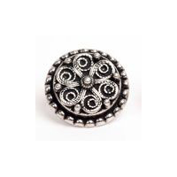 Telemark Liten - Ornate Swirls Pewter Button 15MM - 9/16""